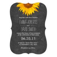 Vintage Sunflower Chalkboard Wedding Invitations (<em>$2.36</em>)