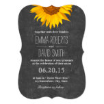 "Vintage Sunflower Chalkboard Wedding Invitations 5"" X 7"" Invitation Card"