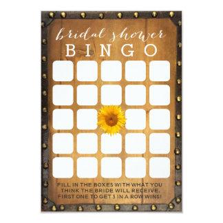 Vintage Sunflower Country Bridal Shower Bingo Game Card