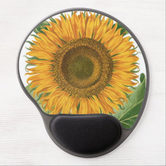 Vintage Sunflower Flower by Basilius Besler Gel Mouse Pad