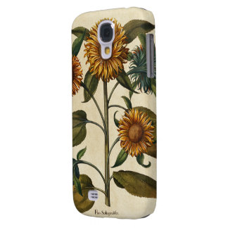 Vintage Sunflower Flower Print Galaxy S4 Covers