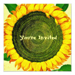 Vintage Sunflower Invitation