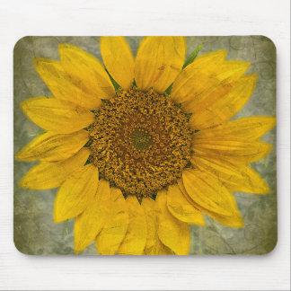 Vintage Sunflower Mousemat Mouse Pad
