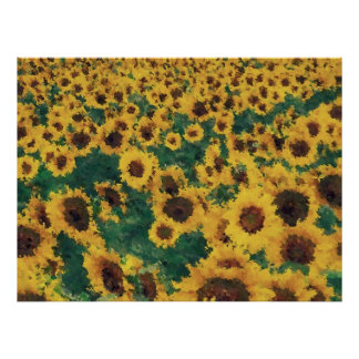 Vintage Sunflower painting art posters