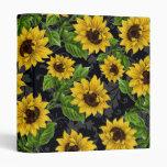 Vintage sunflower pattern binder