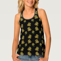 Vintage Sunflower Patterned Tank Top