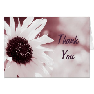 Vintage Sunflower - Thank You Card