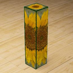 Vintage Sunflower Wine Box