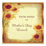 Vintage Sunflowers Mother's Day Brunch Card