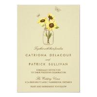 Vintage Sunflowers on Mason Jar Wedding Invitation (<em>$2.06</em>)