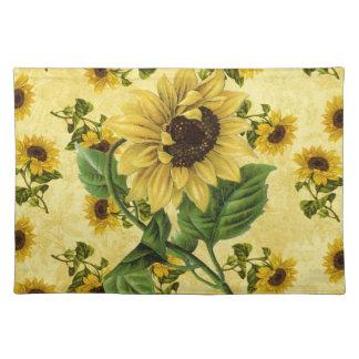 Vintage Sunflowers Placemat