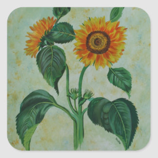 Vintage Sunflowers Stickers