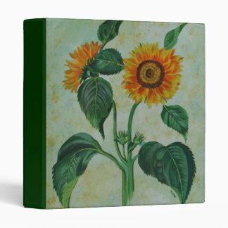 Vintage Sunflowers Vinyl Binder
