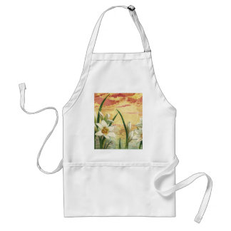 Vintage Sunrise Easter Lilies and Victorian Angels Adult Apron