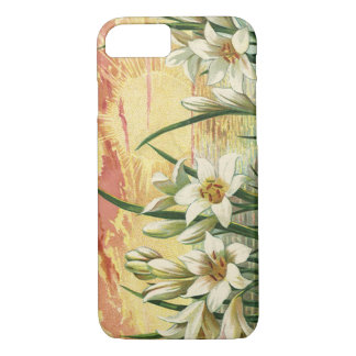 Vintage Sunrise Easter Lilies and Victorian Angels iPhone 7 Case