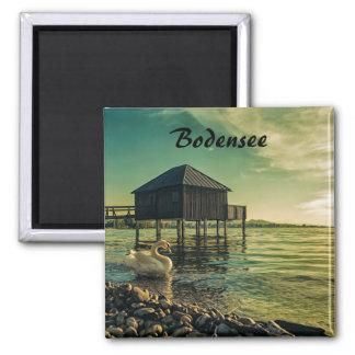 Vintage Sunset at Lake Constance Souvenir Magnet
