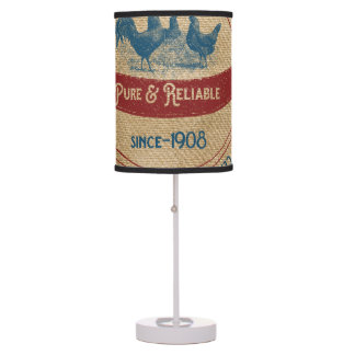 Vintage Sunshine Feed Chickens Advertisement Desk Lamp