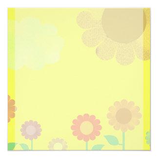 Vintage Sunshine 5.25x5.25 Square Paper Invitation Card