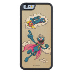 Vintage Super Grover Carved® Maple iPhone 6 Bumper Case at Zazzle