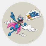 Vintage Super Grover Classic Round Sticker
