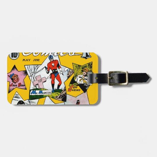 Vintage Super Hero Comic Luggage Tag