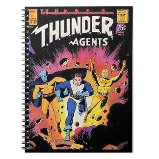 Vintage Super Heroes Comic Book Cover Journal