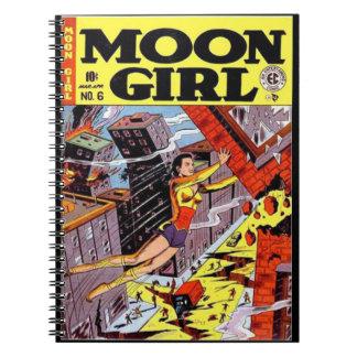 Vintage Super Heroines Comic Book Cover Spiral Notebooks