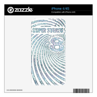 Vintage Super Stereo 8 Decal For iPhone 4