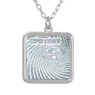 Vintage Super Stereo 8 Silver Plated Necklace
