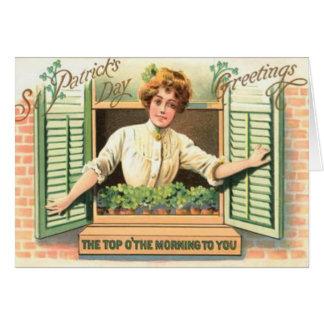 Vintage superior O la tarjeta del día del St Patri