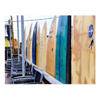 Vintage Surfboards on Montauk Beach Postcard