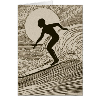 Vintage Surfing Card