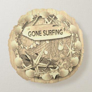 Vintage Surfing Cushion - Gone Surfing