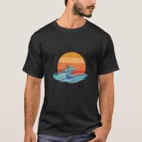 Vintage Surfing Dog shirt for Men