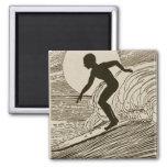 Vintage Surfing Magnet
