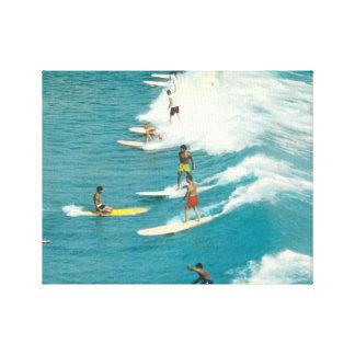 Vintage surfing photo, Florida, 1960s Canvas Print