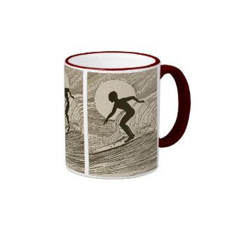 Vintage Surfing Ringer Mug