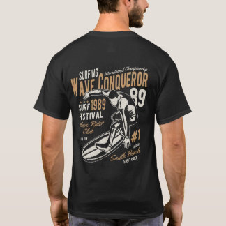 Vintage Surfing Wave Conqueror T-Shirt