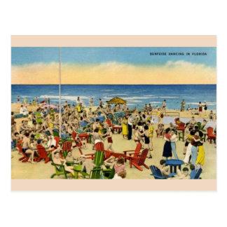 Vintage Surfside Dancing in Florida Post Card