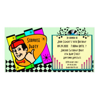 Vintage Surprise Birthday Party Invitation Photo Card