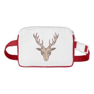 Vintage Surreal Deer Head Antlers Fanny Pack