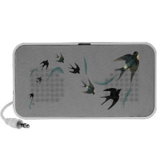 Vintage Swallow Birds Art iPhone Speaker