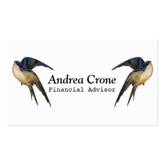 Vintage Swallow Birds Double-Sided Standard Business Cards (Pack Of 100)