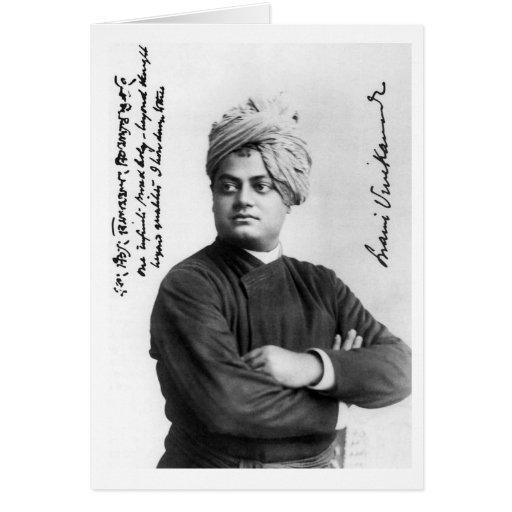 Vintage Swami Vivekananda Photo America 1893 Greeting Cards