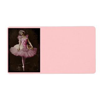 Vintage Swan Lake Personalized Shipping Label