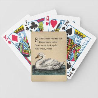 Vintage Swan Tongue Twister Card Deck