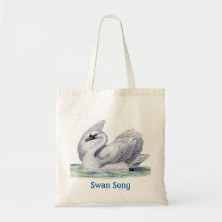 Vintage Swan Tote Bag
