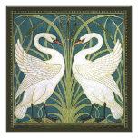 Vintage Swans Bridal Shower Invitation