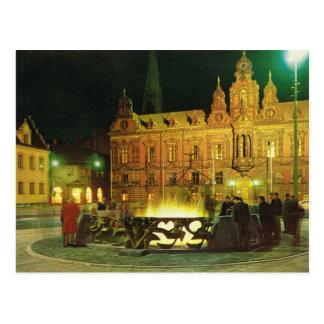 Vintage Sweden, Malmo, City Hall Post Card