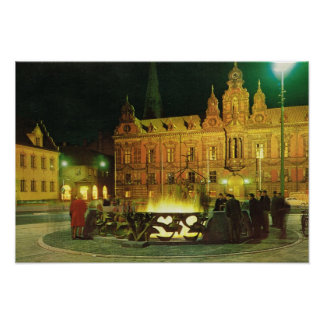 Vintage Sweden, Malmo, City Hall Poster